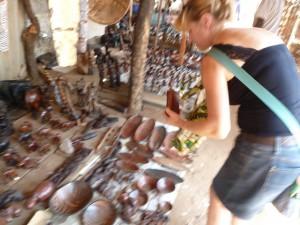 Souvenir-Markt in Victoria Falls