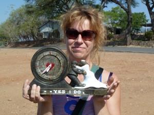 Uhr aus Stein am Kariba-See