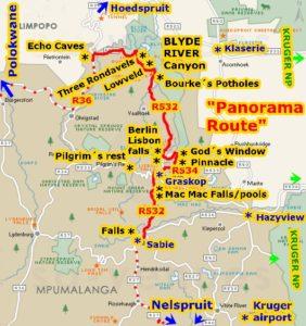Krüger Park Safari in Südafrka mit Panoramaroute Mpumalangas